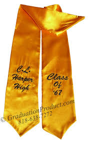 personalized graduation stoles cl high custom graduation stoles sashes as low as 5 99