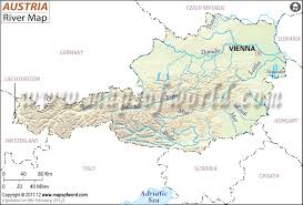 map of germany showing rivers austria river map rivers in austria