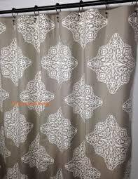 Fabric Stall Shower Curtain Fabric Shower Curtain Monroe Slub Snowy Grey Blue White Extra