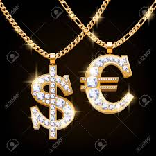 hip hop style necklace images Dollar and euro sign jewelry necklace with diamonds gemstones jpg