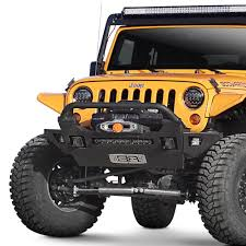 jeep body armor bumper body armor 4x4 jk 19536 pro series mid width black front winch