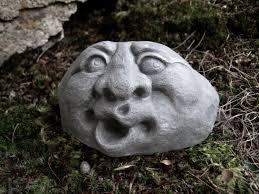 garden rock face concrete garden face funny face rocks with
