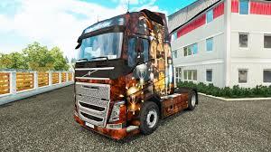 volvo truck trailer steampunk skin for volvo truck for euro truck simulator 2