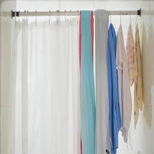 No Drill Curtain Pole Telescopic Bathroom Shower Curtain Pole 160 210cm No Drilling 6