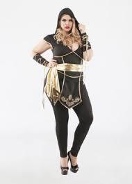 Cute Size Halloween Costumes Women Black Ninja Assassin 4 Piece Women U0027s Size Halloween