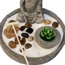 Buddha Deko Wohnzimmer Art Decor Zen Garten Japanischer Steingarten Mit Buddha Und Kerze