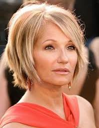 easy manage hairstyles kate capshaw short blonde messy haircut with bagns for women over
