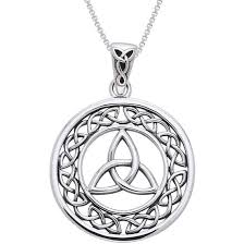 knot necklace silver images Sterling silver celtic border trinity knot necklace free jpg