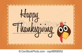 happy thanksgiving turkey background card vector clipart vector