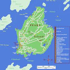 Maps Portland Maine by Peaks Island