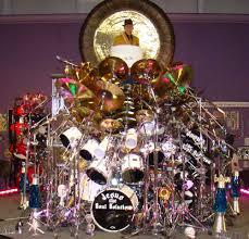 reverend plays a 900 piece drum set