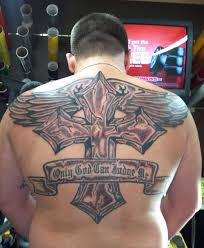 big cross tattoo on back photos pictures and sketches tattoo