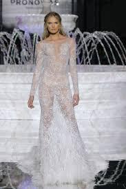 sleeve wedding dress pronovias see through wedding dress 2018 brides