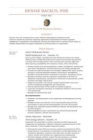 Performance Resume Sample by Hr Business Partner Resume Samples Visualcv Resume Samples Database