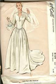 vintage wedding dress patterns mccall s 9677 misses 1950s wedding dress pattern bust 30 basque