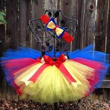 Snow White Halloween Costume Toddler Snow White Inspired Tutu Birthday Tutu Headband Hair