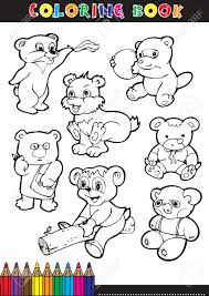coloring books or coloring pages black and white cartoon bear