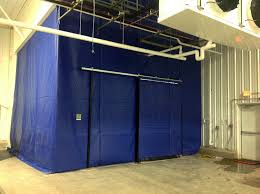 Industrial Curtain Wall How Curtain Walls Work For Dust Control Applications