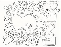 anniversary coloring pages doodle art alley