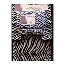 Animal Shower Curtain 22pc Bath Accessories Set Black Zebra Animal Print Bathroom Rugs