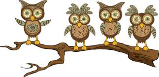 owl on tree branch clip clipart free clipart