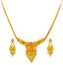 gold earrings necklace images 22k gold necklace set ajns60182 22k gold fancy light necklace jpg