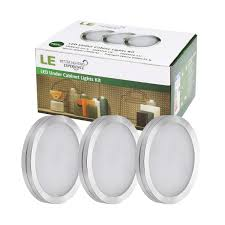 how to add under cabinet lighting le led under cabinet lighting kit 510lm puck lights 3000k warm