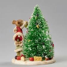 heart of christmas mice decorating christmas tree