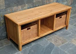 Indoor Storage Bench Design Plans by Bedroom Amazing Wood Bench With Storage Treenovation For Wooden