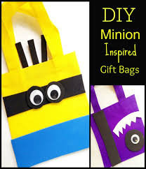 minion gift bags diy minion inspired party gift bags ebay