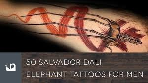 50 salvador dali elephant tattoos for men youtube