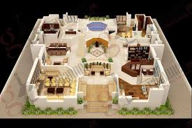 3bhk Home Design by Floor Plan Code Mhd 2015020 Modern House Designs Beds 4 Baths 3