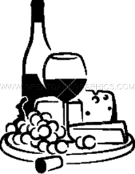 Wine Cheese Production Ready Artwork For T Shirt Printing
