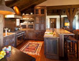 Rustic Hickory Kitchen Cabinets Kitchen Knotty Hickory Kitchen Cabinets With The Natural Texture
