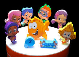 Bubble Guppies Birthday Decorations Personalized Birthday Cake Topper Centerpieces By Adianez Cake