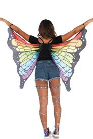 rainbow butterfly wings with back holster and wrist straps