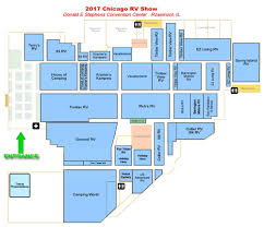 Blue Line Chicago Map by Convention Center Map Chicago Rv U0026 Camping Show