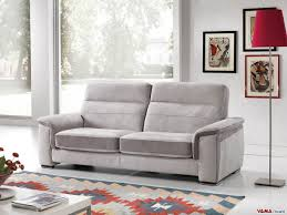 Fabric Recliner Sofa Reclining Sofa In Leather And Fabric With Sliding Seating