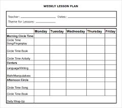 nice weekly lesson plan template word photos u003e u003e 8 weekly lesson