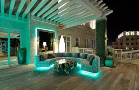 Green Outside Lights 20 Outdoor Led Lighting Ideas How To Illuminate A Terrace