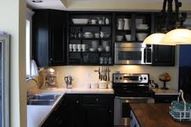 Images Of Kitchens With Black Cabinets Kitchen Fascinating Kitchen Open Cabinets Shelving Ideas
