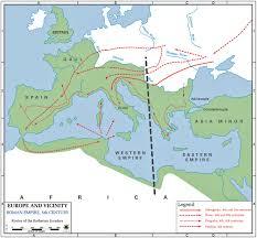 Roman World Map by Of The Roman Empire 5th Century