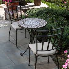 Wrought Iron Bistro Table Tremiti Mosaic Bistro Set At Jackson And Perkins