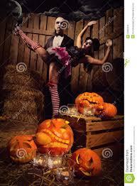 vampires with halloween pumpkin royalty free stock image image