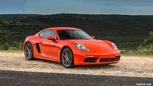 2017 porsche 718 cayman s color lava orange us spec front