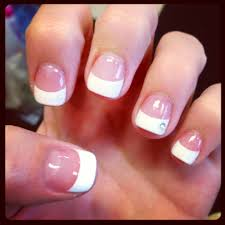 cute diamond nails acrylic french nailsies pinterest