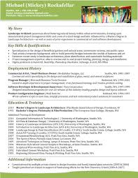 Resume Landscape Architect Resume Mickey Rockafellar