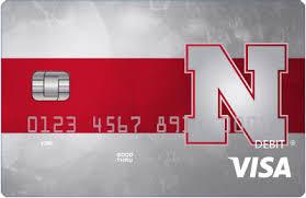design bank of nebraska huskers visa debit card national