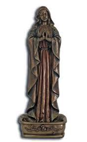 rosary holder praying madonna rosary holder bronzed resin 6 25 inch