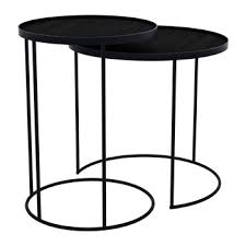 side table set of 2 buy notre monde hexagonal nesting side table set cobalt mist amara